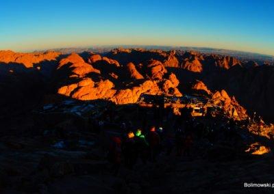 Wschod słońca - Góra Mojżesza